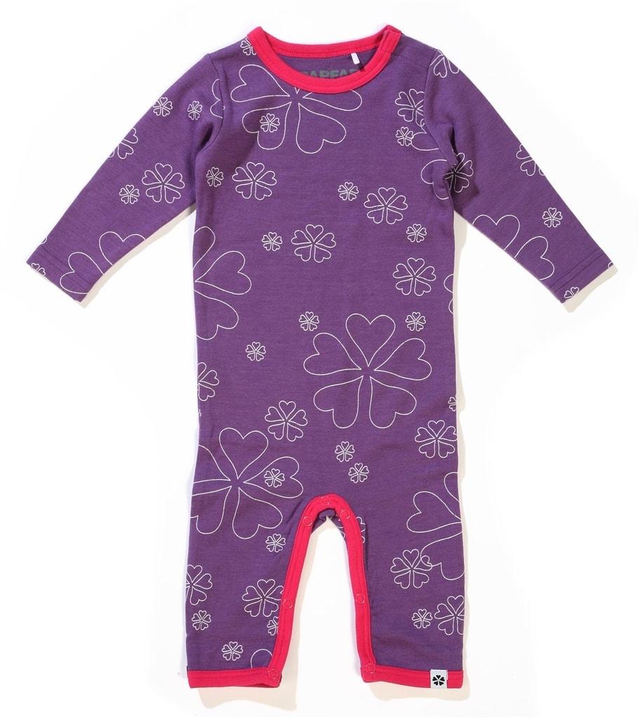 Papfar overal vlna bavlna vzor fialový  b62cbe435d